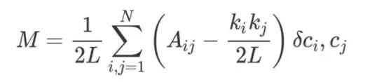 模块性可以使用以下公式进行计算