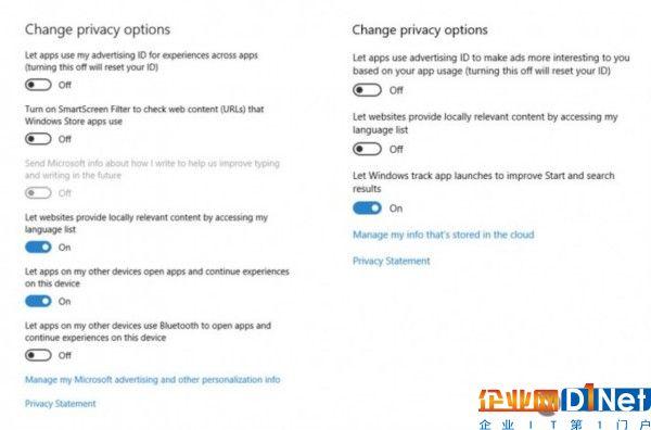 Windows 10 Creators Update隐私策略变动一览
