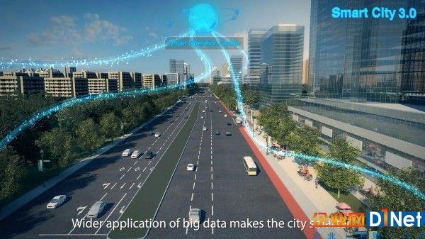 从智慧街区开启未来生活 城市居民的智慧生活将是这样的: 街灯根据实时环境和流量情况,自动调节开关和明暗,还能充当Wi-Fi热点,给电动汽车充电; 垃圾箱自动感应垃圾存积量,及时发送告警信息到管理员,并规划导航信息便于进行垃圾收集; 智能门禁通过人脸识别系统就可自动识别小区住户,方便居民进出; 快递柜自动登记快递物品信息,并生成一串数字密码,连同收件提醒一起发送给居民; 用水质量如何,空气质量PM2.