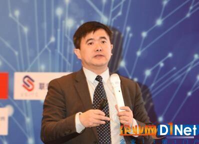 图2 e-works总编黄培博士发表主题演讲