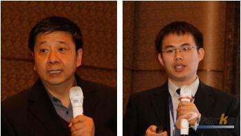 图7 从左至右:中航工业江西洪都航空工业集团有限责任公司CIO宋利康    京东方科技集团股份有限公司CIO组织数字化制造中心部长罗江波