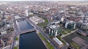 爱尔兰都柏林的鸟瞰图