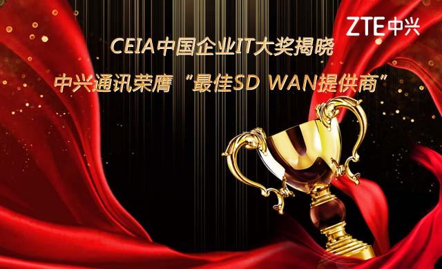 中兴通讯荣膺最佳SD WAN提供商大奖