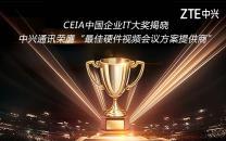"""2017 CEIA中国企业IT大奖揭晓 中兴摘得""""最佳硬件视频会议方案提供商"""""""