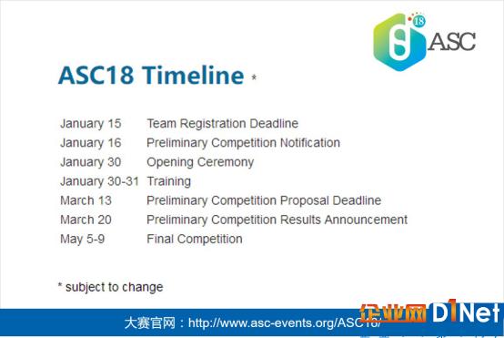 ASC18世界大学生超级计算机竞赛集训营将于2018年1月30-31日举办