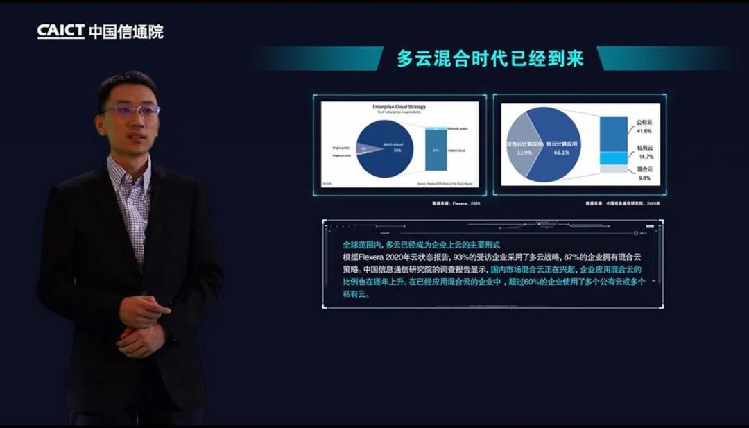 中国信通院云计算与大数据研究所云计算部副主任马飞发表主题演讲