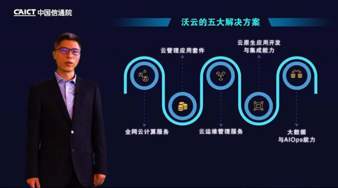 联通云数据有限公司首席产品官宋国欢发表演讲